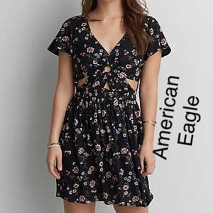 American eagle dress with cutouts